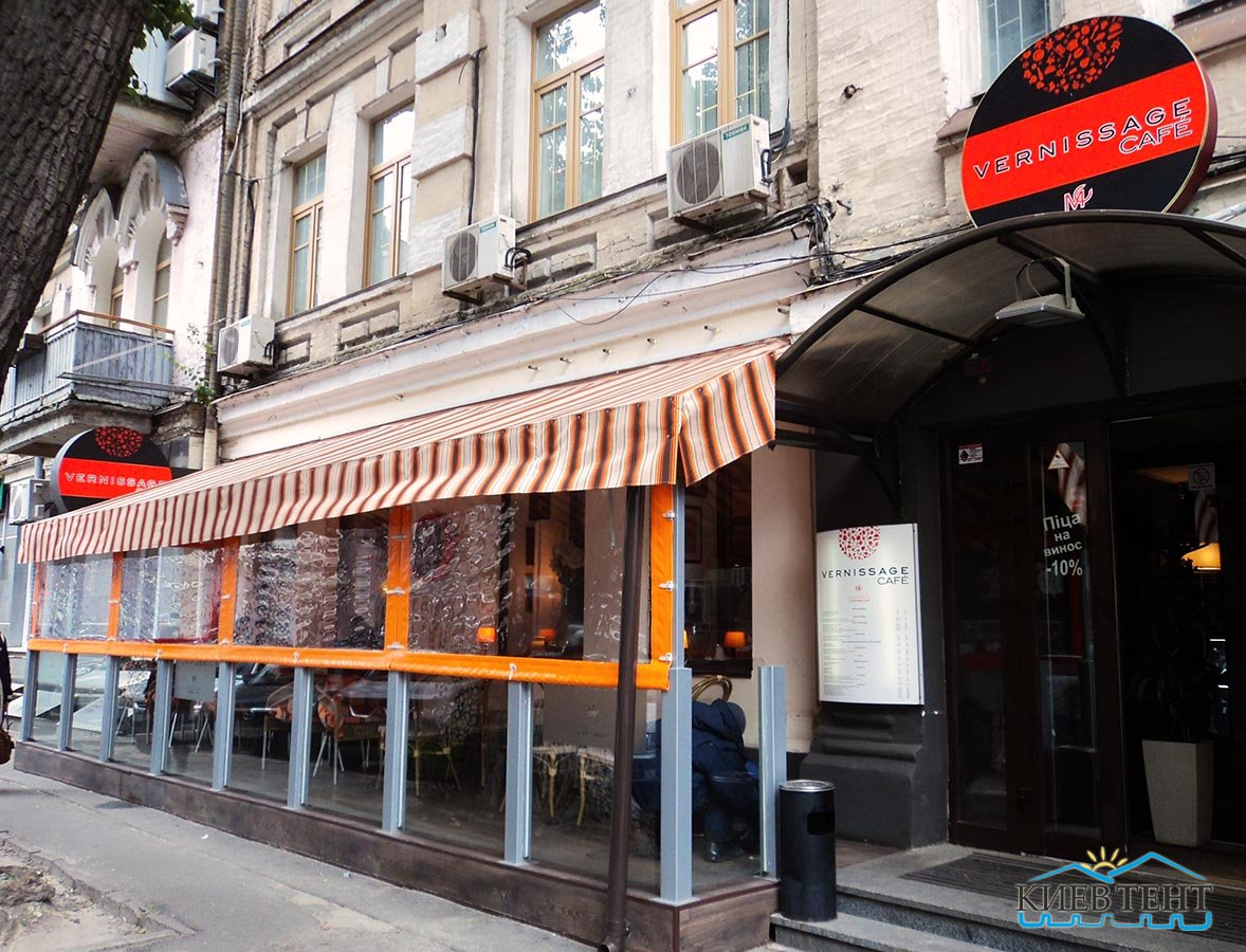 тентовые окна ресторана