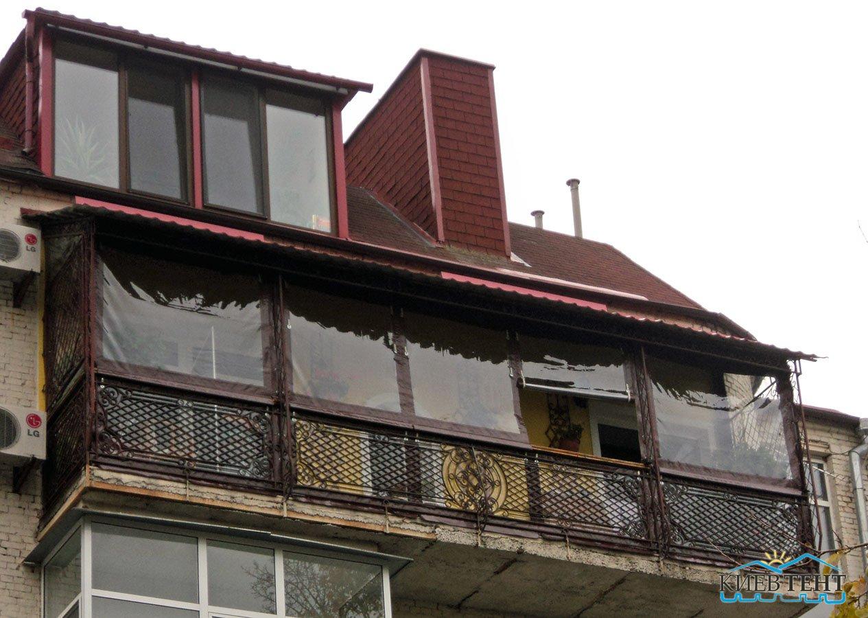 Тентовые окна для балкона