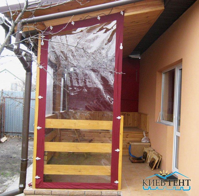 Тентовые двери для веранды