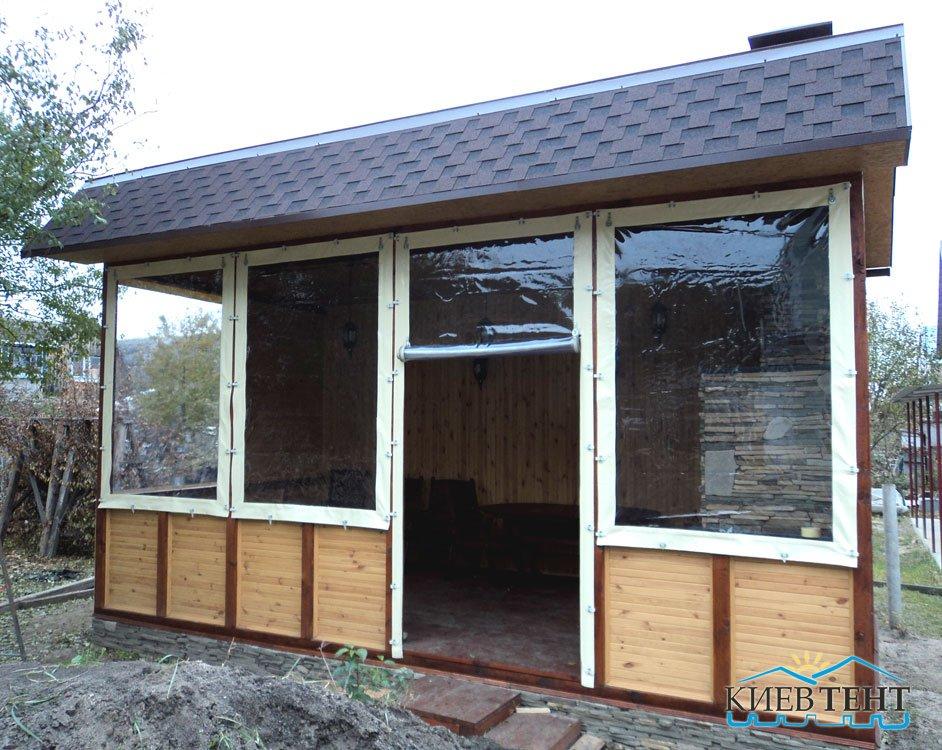Окна и стенки из ПВХ ткани