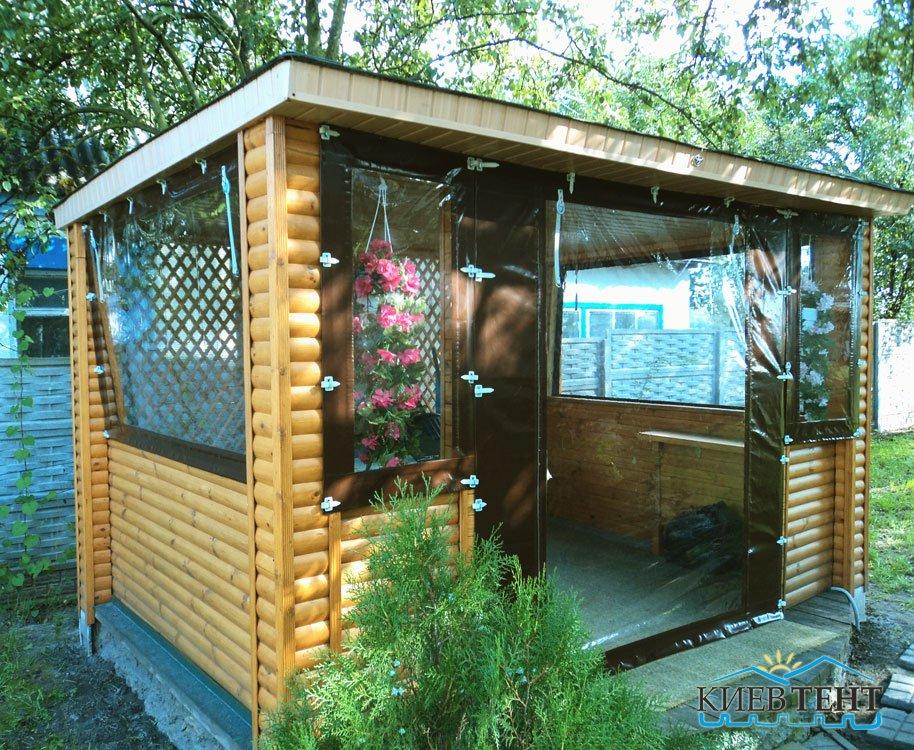 Флексовые окна и тентовые стенки для альтанки