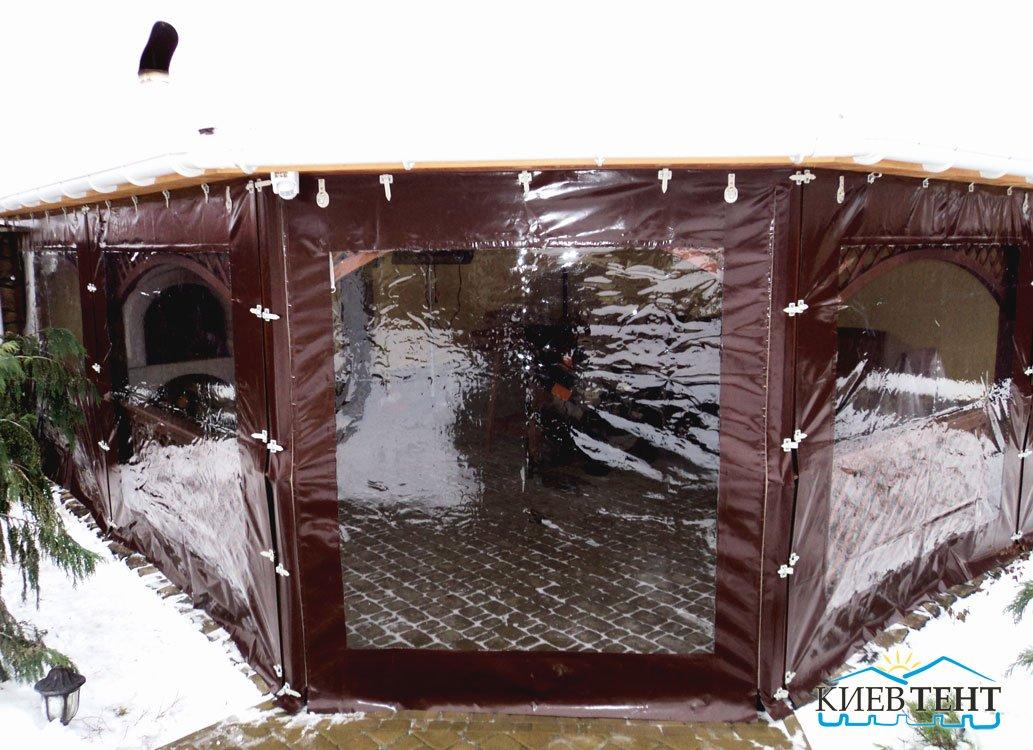 Дверь и стенки из тентовой ткани