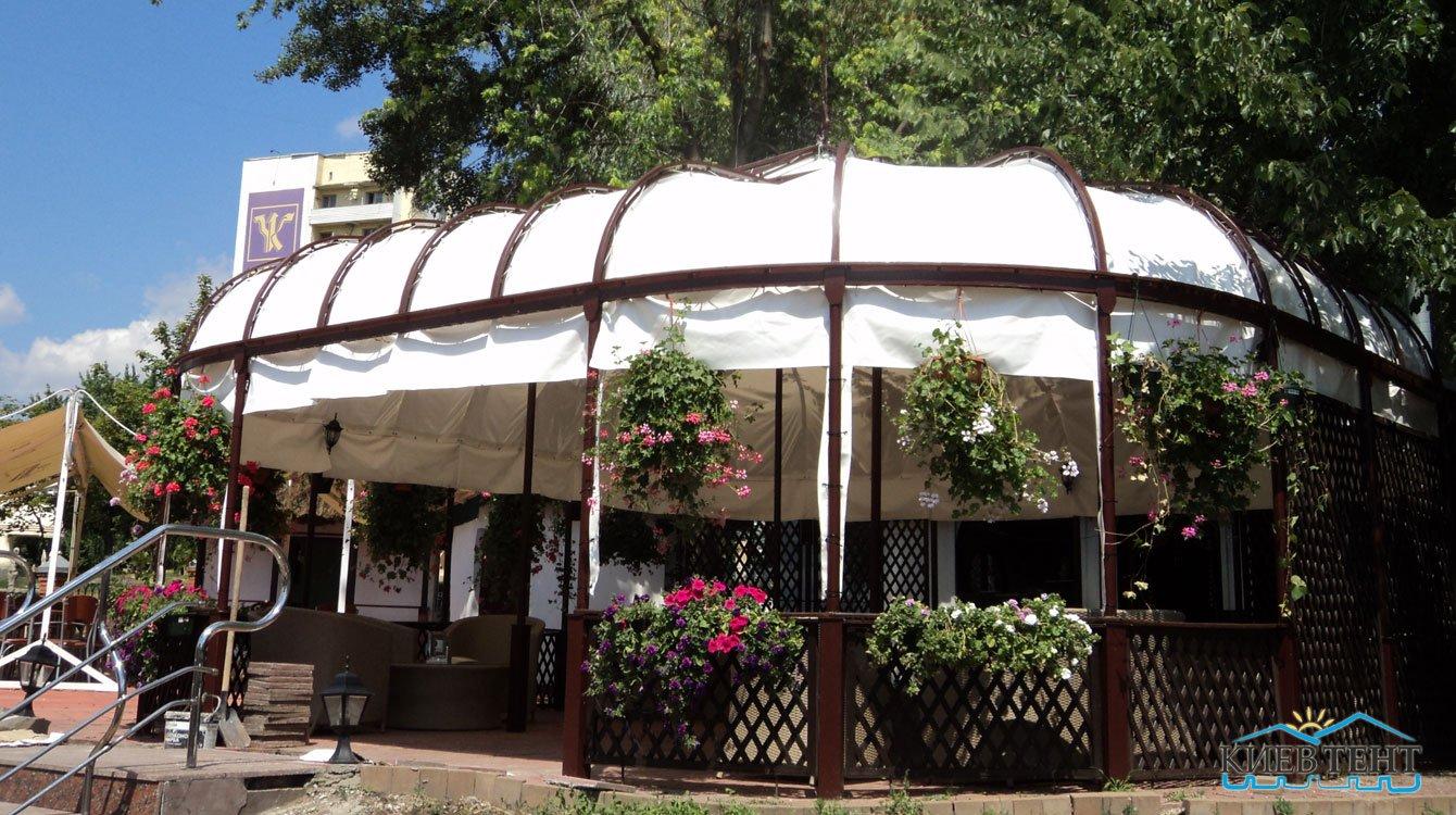 Виниловый тент для шатра ресторана