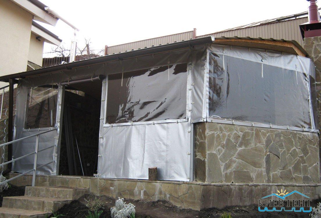 Двери, стенки и окна из тентовой ткани и флекса