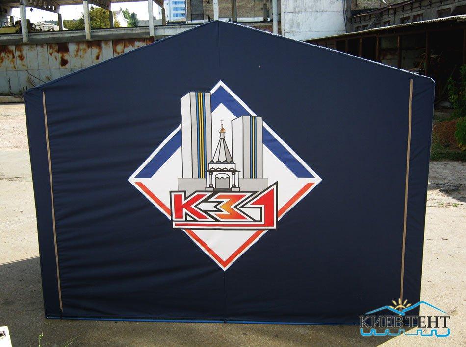 Рекламная палатка, вид сзади