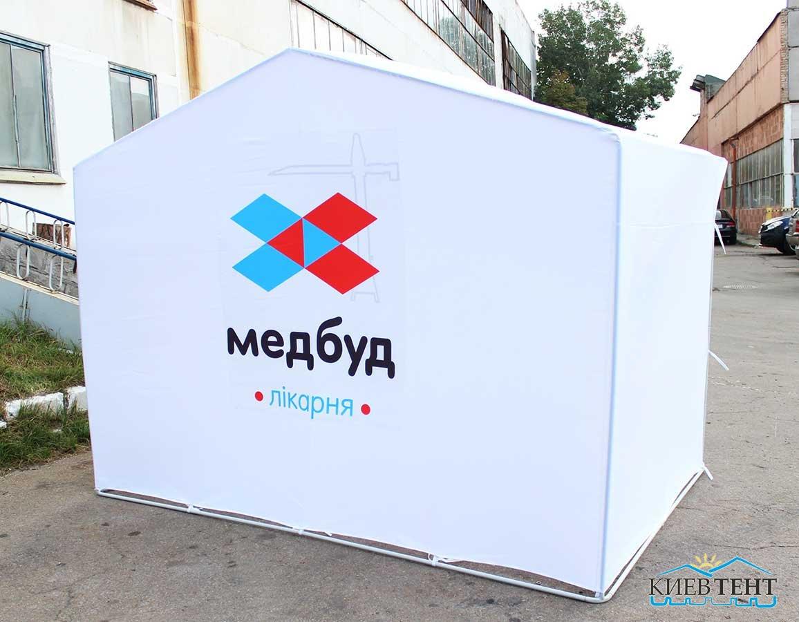 Палатка Медбуд, пришивной логотип