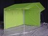Зеленая палатка с молниями 1
